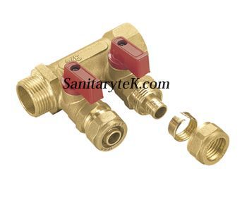Manifold with ball valve